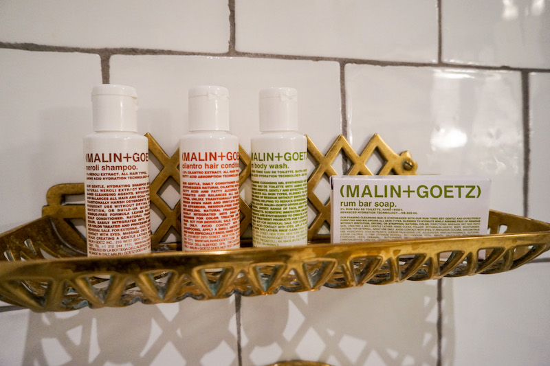 Malin & Goetz toiletries - Hotel Emma