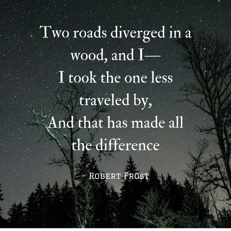 Two roads diverged in a wood