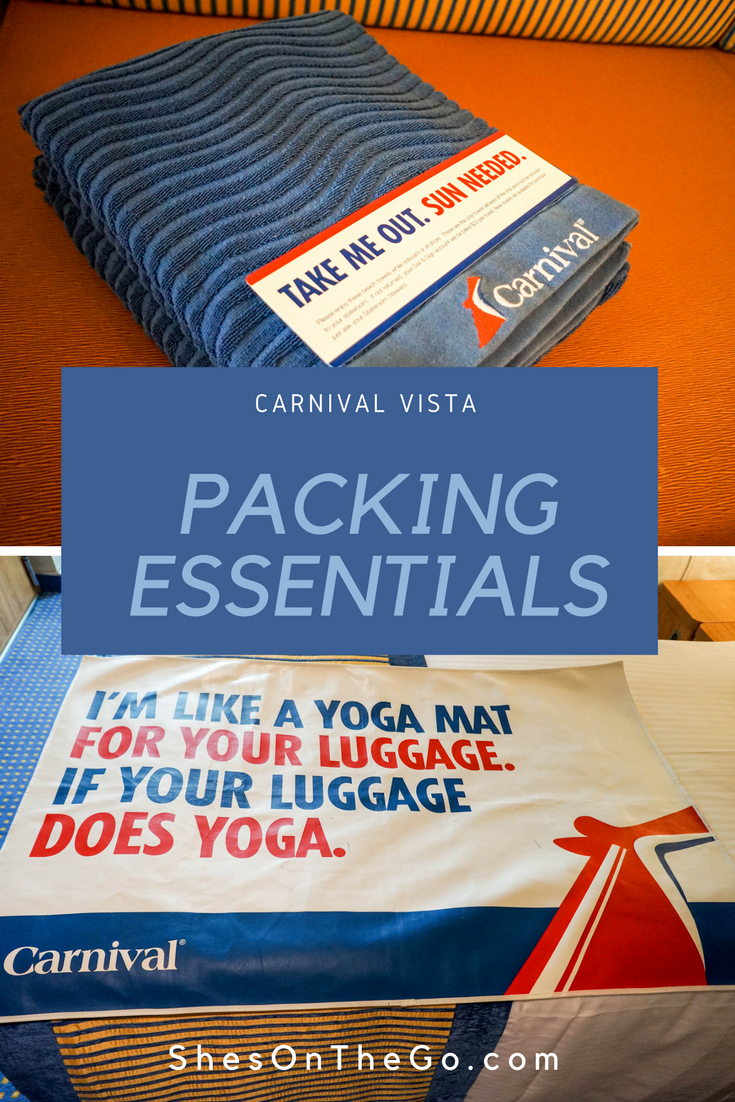 Carnival Vista Packing Essentials