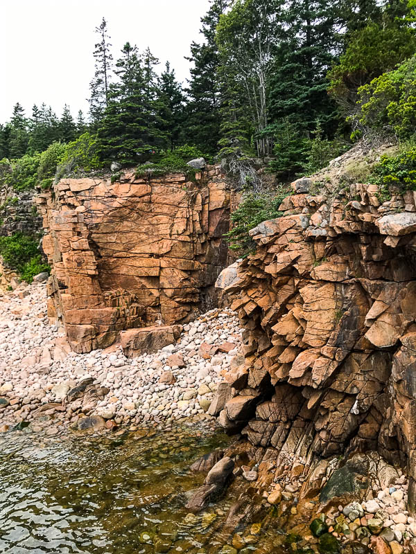 Rocky beach in Acadia National Park