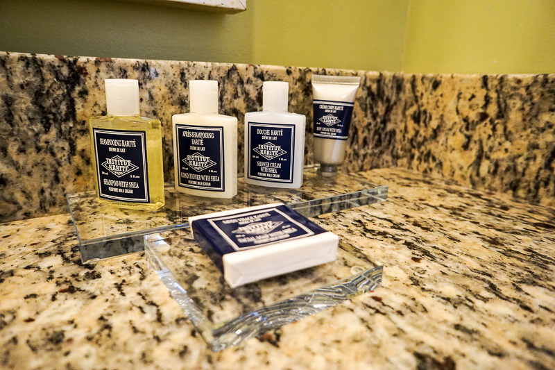 Toiletries at The George Washington Hotel