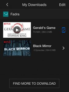 Netflix downloads