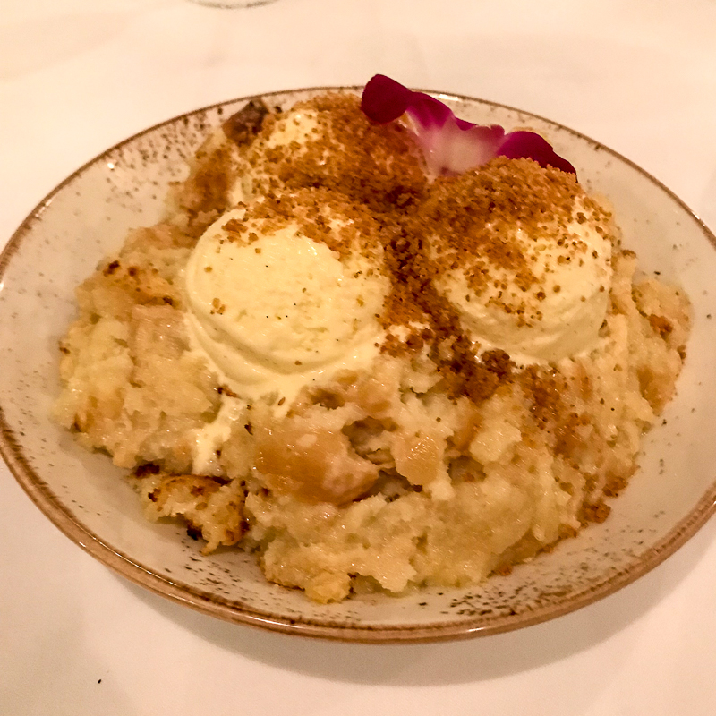 Bread pudding at Voyagers