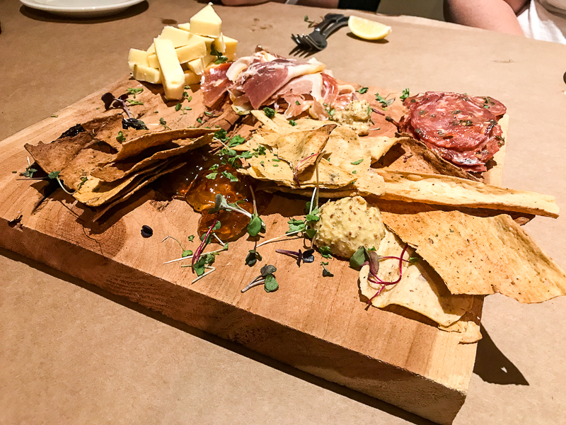 Cheese and charcuterie at Salt