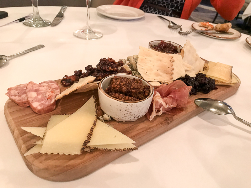 Local cheese and charcuterie board