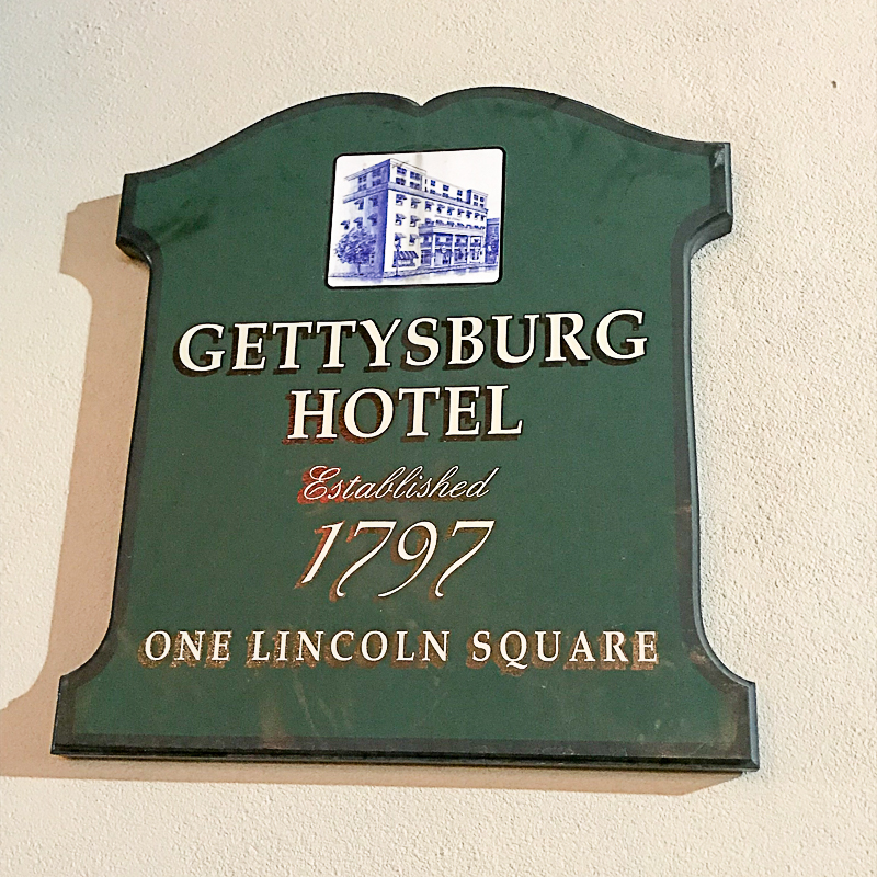 Gettysburg Hotel, established 1797