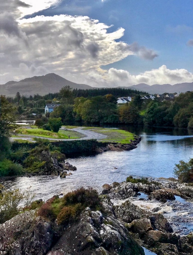 Town of Sneem - Sneem River - Southern Ireland