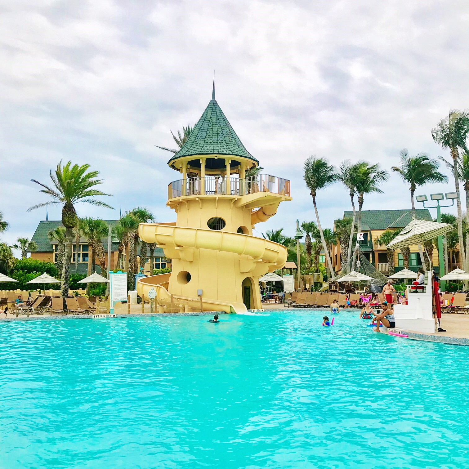 Disney S Vero Beach Resort Pool And Water Slide