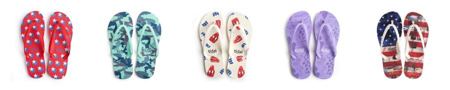 Tidal New York flip flops