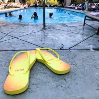 Tidal flip flops-yellow