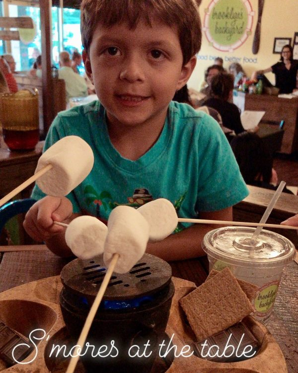Brooklyn's Backyard SMores at-the-table in Ocala, Florida