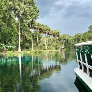 Kayaking and Glass Bottom Boat ride at Silver Springs Park