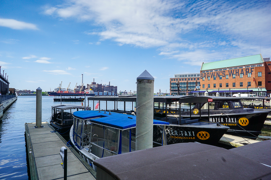 Baltimore Water Taxi stops in many locations throughout the Baltimore Harbor