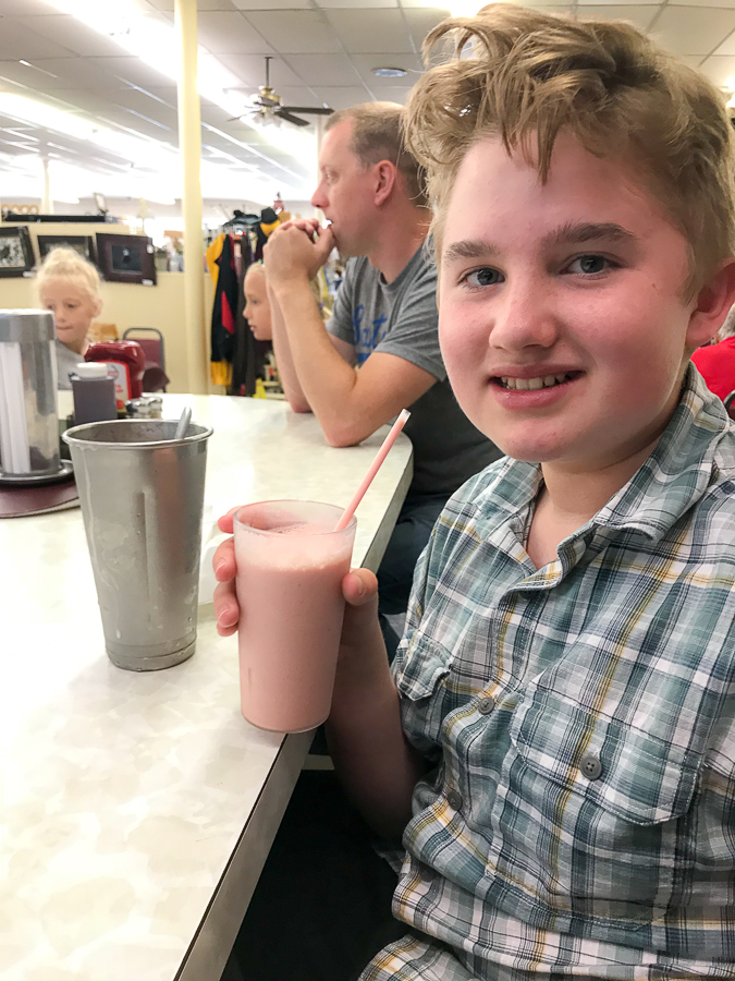 Englander's strawberry milkshake