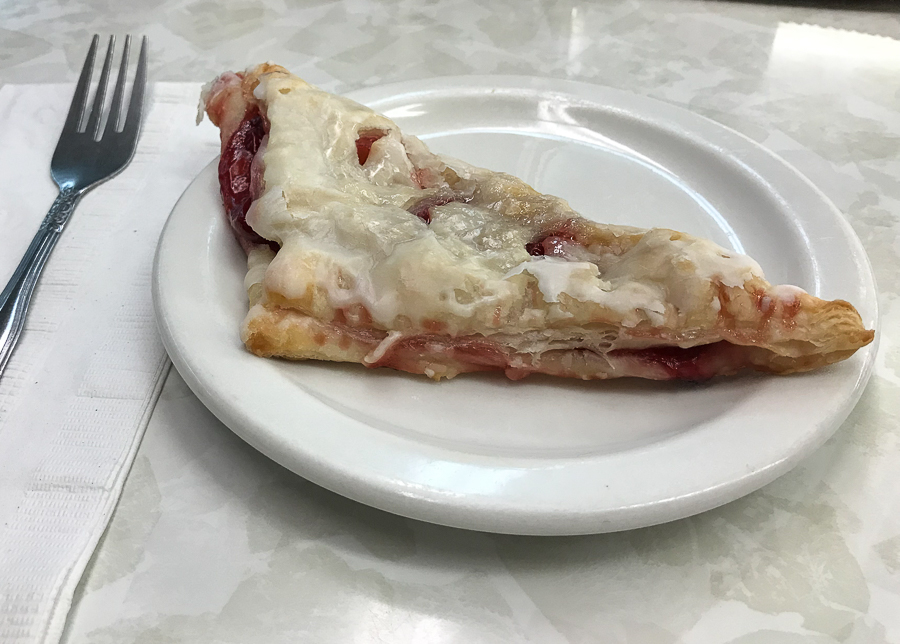 Homemade cherry turnover at Englander's