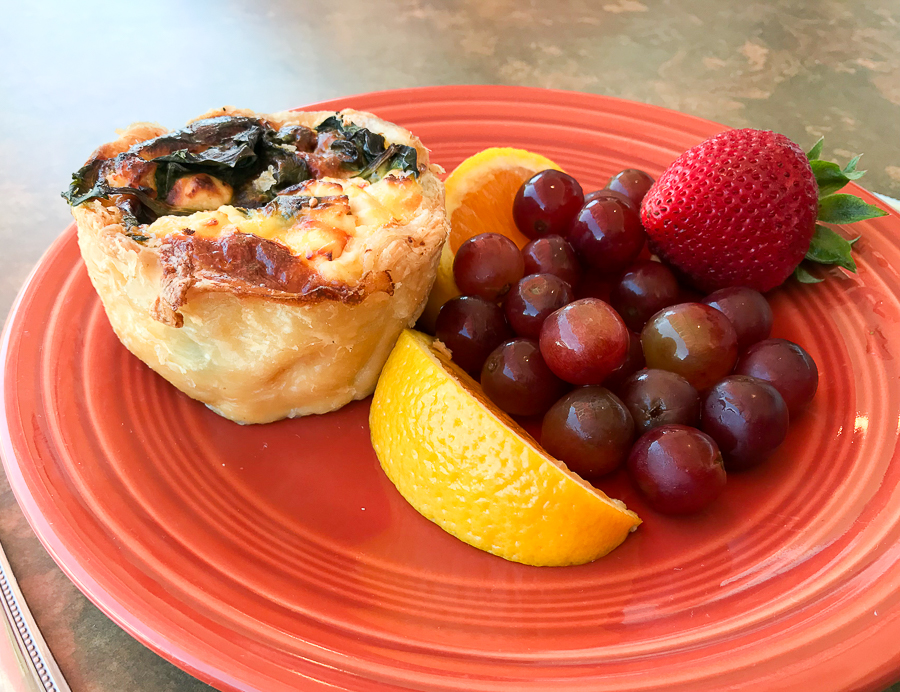 Quiche at Trader's Coffee House