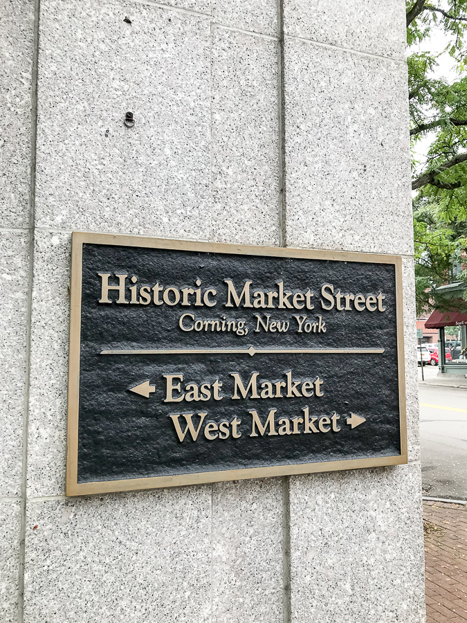 Historic Market Street in Corning, NY
