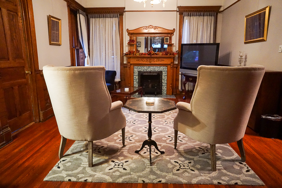Gage Mansion sitting room