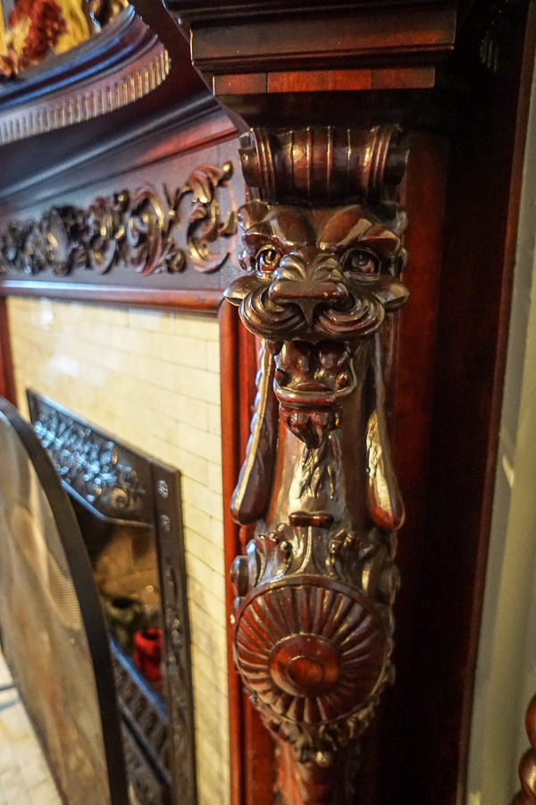 Wood carving at Gage Mansion