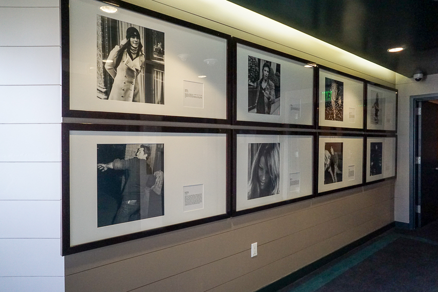 Celebrity photos line the walls at the Hollywood Roosevelt Hotel
