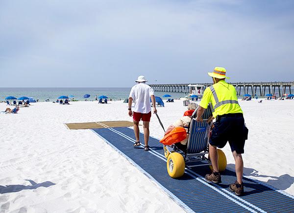 wheelchair accessibility at Pensacola beaches