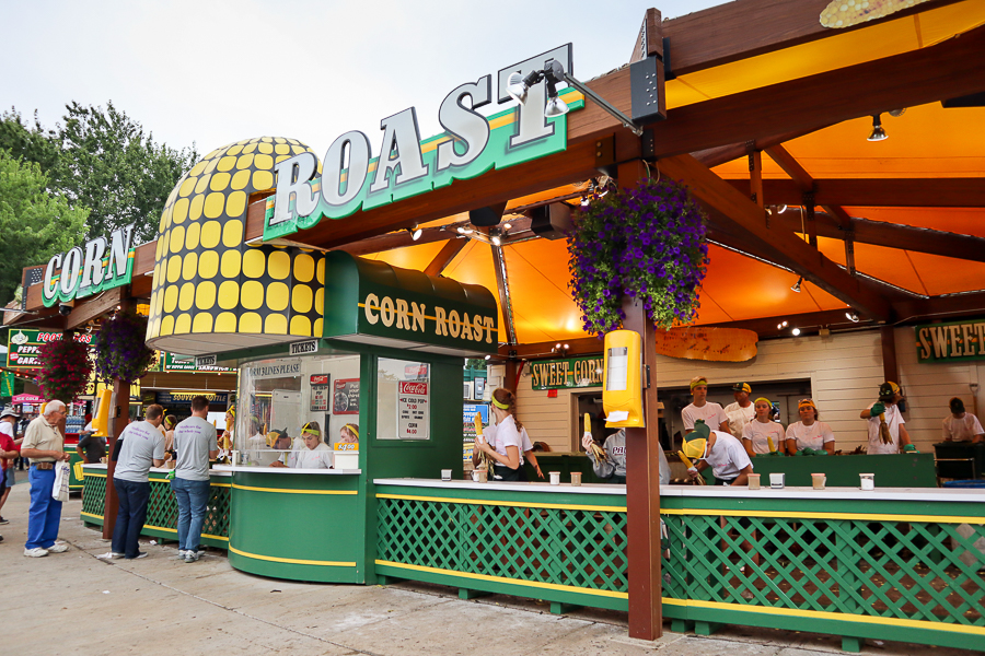 It's not hard to miss the corn stand!