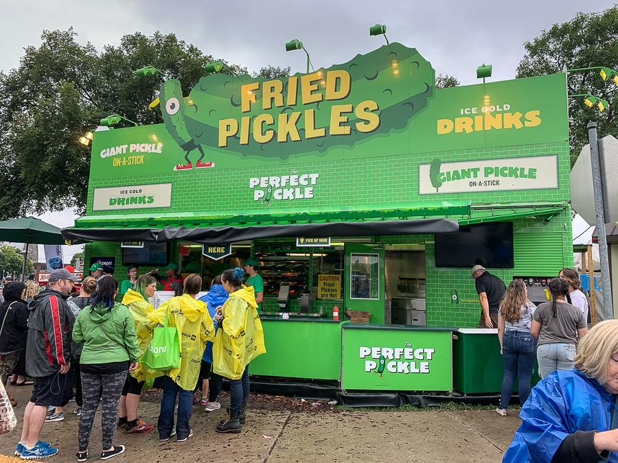 Fried pickles at Minnesota State Fair
